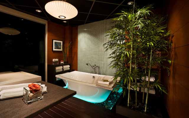 Nature bathroom lighting ideas