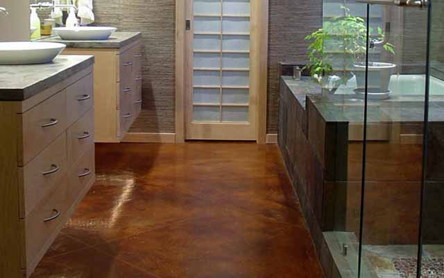 Nature bathroom flooring options ideas