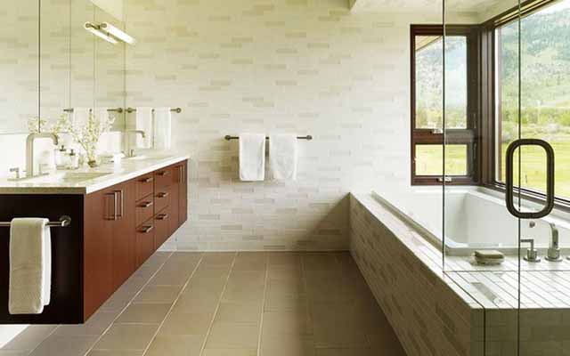 Nature bathroom wall ideas on a budget