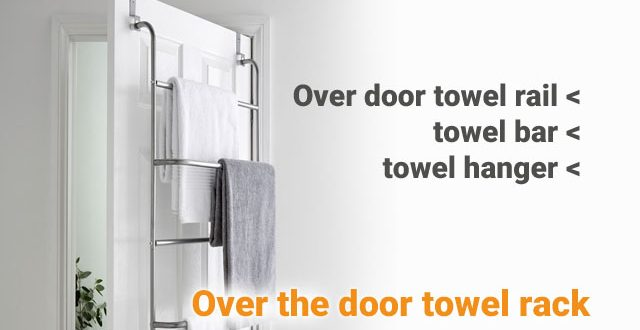 Oover the door towel rack, towel rail, towel hooks, towel bar, towel hanger